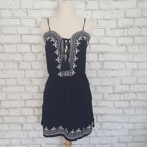 Romeo & Juliet Couture Embroidered Tie Front Dress